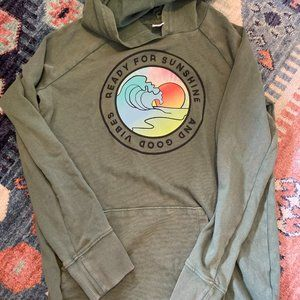Old Navy washed green Girls Pullover Hoodie